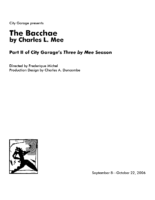 The Bacchae Program