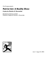Patriot Act: a Reality Show Program